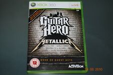 Guitar Hero Metallica Xbox 360 UK PAL **FREE UK POSTAGE**