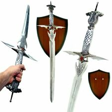 Medieval Dragon Dagger Fantasy Large Sword With Another Knife Blade in Handle