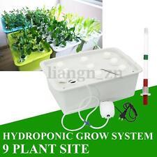 9 Trous plante Site Système de culture Hydroponique Watering Bubble Tub KIT