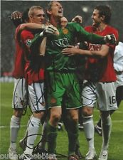 Manchester United Edwin Van Der sar Fletcher Michael Carrick Signed 8x10 Photo C