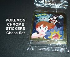 POKEMON Chrome Stickers Chase Set    - TRADING CARDS    COMPLETE  SET
