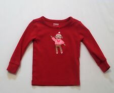 "Gymboree ""Sock Monkey"" Sock Monkey Red Gymmie Pajama PJ Top, 18-24 mos."