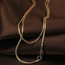 Pure Solid 18k Rose Gold 15.7inch L Necklace Women Bling Star Chain 2-2.5g Au750