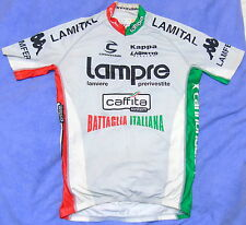 EXCELLENT LAMPRE BATTAGLIA ITALIANA JERSEY SKINSUIT MATERIAL. USA LARGE / UK XL