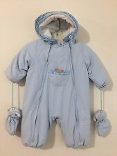 Les Bebes De Buissonniere Snowsuit w/Teddy Bear Light Blue Size 18M