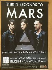 THIRTY SECONDS TO MARS II 2014 BERLIN-orig.Concert Poster - Konzert Plakat  NEU
