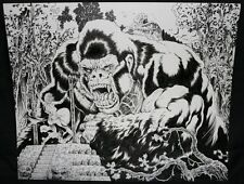 King Kong Iconic Babe Tied Up on Island Drawing - 2009 Signed art by Tim Vigil
