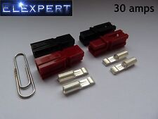 4 X ANDERSON POWERPOLE 30AMP ELECTRICAL CONNECTOR PLUG_GOLF TROLLEY_KIT CAR_RC