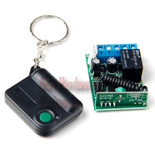 1 Button 433MHZ Remote Control Transmitter + Receiver Controller Garage Openers