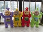 "Set Of 4 Teletubbies Po Dipsy Laa Laa And Tinky Winky 12"" Plush Dolls Toys New"