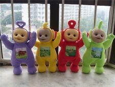 "4pcs 12"" Teletubbies Po Dipsy Laa Laa Tinky Winky Plush Dolls Toys Set &"