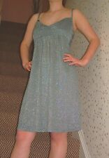 Grey Micro Mini Dress, Glitter Party Dress, Size 12, New With Tags.