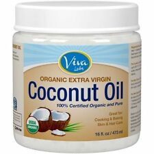 New, Viva Labs Organic Extra Virgin Coconut Oil, Unrefined Cold-Pressed