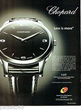 PUBLICITE ADVERTISING 096  2002  Chopard montre L.U.C XP grand prix horlogerie