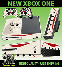 XBOX ONE CONSOLE STICKER JASON VOORHEES MASK CLEAN HORROR SKIN & 2 PAD SKINS