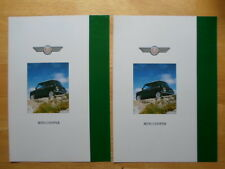 MINI COOPER rare c1992 brochures x2 with German & French text