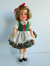 "Vintage Shirley Temple 12"" Vinyl Doll Wearing Movie Classics Heidi Outfit"