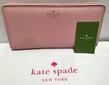 NWT KATE SPADE MULBERRY STREET LARGE STACY PINK BI-FOLD WALLET NEW