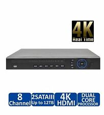4K NVR Dahua (NVR4208-8P-4K) with 8Port PoE Switch built-in for IP Cameras