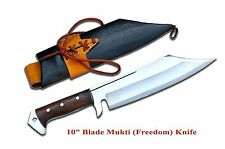 """Handmade 10"""" long blade Mukti (meaning redemption) Kukri,knife by NHZ Nepal"""