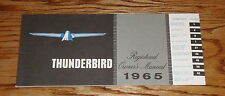 1965 Ford Thunderbird Owners Operators Manual 65