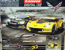 CARRERA DIGITAL 1/32 scale CORVETTE RACE slot car Race Track Set #30186