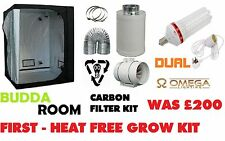 Complete Starter Grow Tent 1.2 Kit Extractor Fan Kit Grow light CFL Hydroponics