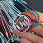12x Colorful Stainless Steel Wire Keychain Cable Screw Clasp Key Ring 10cm 4