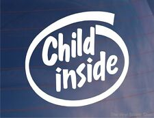CHILD INSIDE Kids Novelty Fun Car/Van/Window/Bumper Sticker - Ideal For Parents