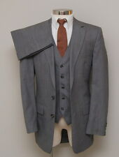 Vintage Mens 38L Botany 500 3 Piece Brown with Red/Blue Check Wool Suit