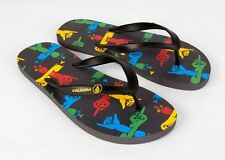 NEW VOLCOM MEN ROCKER SANDALS FLIP FLOP CREEDLERS BLACK MULTI US size 9 item 53