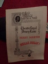 HELLO DOLLY STARRING MARY MARTIN THEATRE PROGRAMME