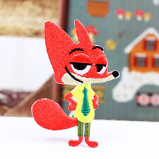 Zootopia Nick Fox Patch Embroidered Movie Animation Iron On Sew On Patches