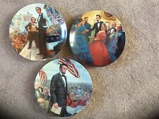 Knowles - Lincoln, Man of America series by Mort Kunstler set of 3