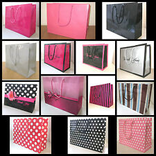 400 MIX VARIETY PAPER CARRIER PARTY GIFT BOUTIQUE SHOPPING BAGS H20 L30 W10CM