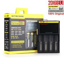 Nitecore D4 Intellicharger LCD Universal Quad Battery Charger 18650 26650 AA AAA