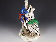 EARLY CAPODIMONTE FIGURINE OF MAN COURTING WOMAN