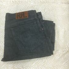 Ralph Lauren RRL USA  Selvedge once wash  Slim fit gray Jeans sz *34/32 japan