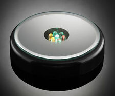 Seven Color LED Lights Base Stand With Mirror Top For Crystal Glass Art Figurine