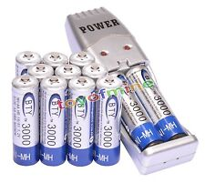 12x 2A AA 3000mAh 1.2 V Ni-MH BTY Rechargeable Battery Cell + AA/AAA USB Charger