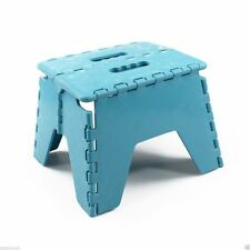 Blue New Plastic Multi Purpose Folding Step Stool Home Kitchen Easy Storage UK