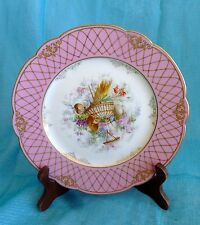 SEVRES G. Boutigny Palais Royal Paris SV.59 CABINET DISPLAY PLATE Flowers & Urn