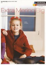 Schachenmayr Girl's Jacket Chunky Extra Merino Big Yarn Knitting Pattern #14D161