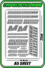 MUGEN SEIKI RC STICKER SHEET 1/8 BUGGY 1/10 CAR MTX6R MBX7R MRX6 GT ECO GREY