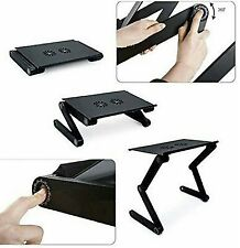 Multifunctional Laptop table with 2 cooling fan and removable mouse tray