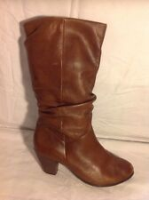 Call It SPRING Brown Mid Calf Leather Boots Size 7