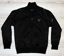 EXTRA! FRED PERRY BLACK TRACK JACKET SIZE M MEDIUM
