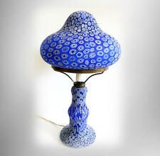 Millefiori vintage art glass lamp in blue floral design  FREE SHIPPING