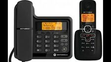 Motorola DECT 6.0 Corded Base Phone with Cordless Handset, Digital Answering Sys