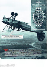 PUBLICITE ADVERTISING 096  1994  Breiting montre grand prix A.P.P.M 1992